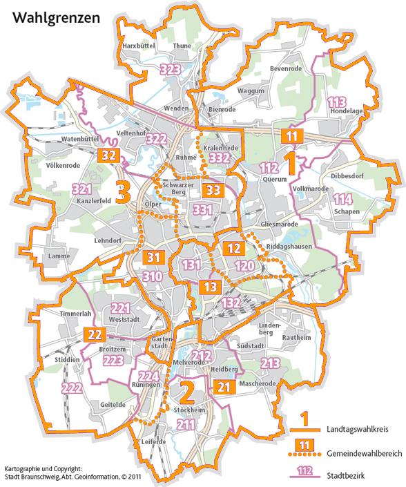 Wahlgrenzen Braunschweig